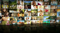 Imagewall 023 stock footage