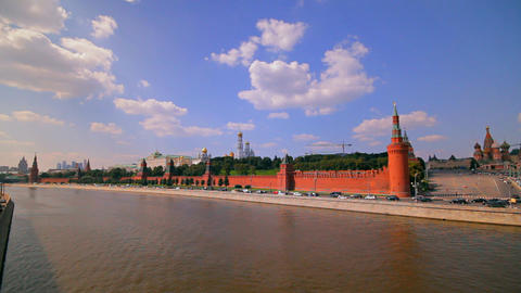 Moscow Kremlin Embankment stock footage