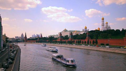 Moscow kremlin embankment Stock Video Footage