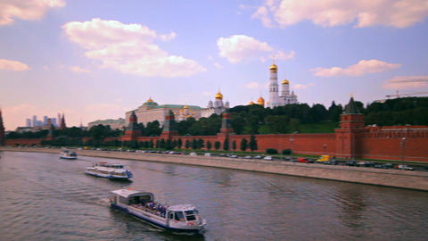 Moscow kremlin embankment Stock Video Footage
