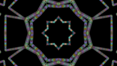 dotted line kaleidoscope Stock Video Footage