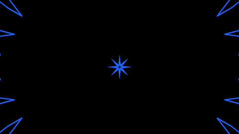 blue graphic stars Animation