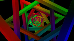 twirly triangle color Stock Video Footage