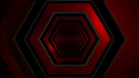 red digital glow tunnel Animation