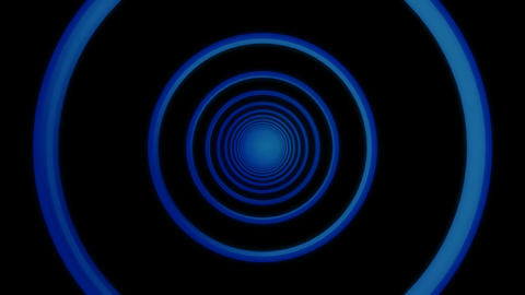 blue radio wave tunnel Animation