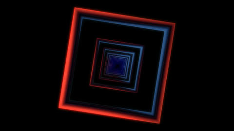 spinning square frame tunnel Stock Video Footage