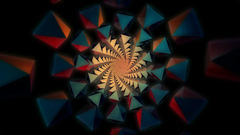 3D kaleidoscope tunnel Animation