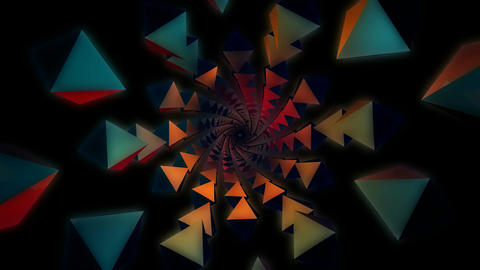 3D kaleidoscope tunnel Stock Video Footage