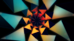 3D neon kaleidoscope Stock Video Footage