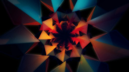 3D neon kaleidoscope Stock Video Footage