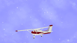 Santa Claus Flying On Airplane - Cartoon Loop stock footage