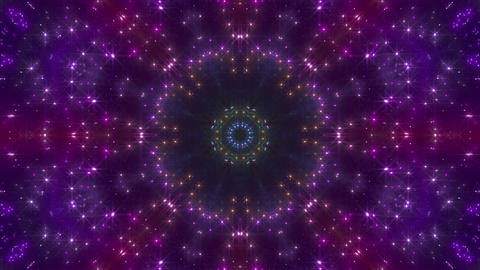 kaleidoscope particles 2 D 1b 3 HD Stock Video Footage