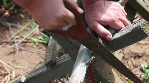 Sawing Stock Video Footage