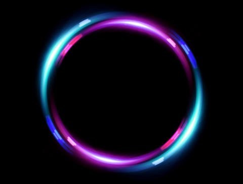 4 K double ring flare pink blue Stock Video Footage