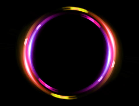 4 K double ring pink orange Animation