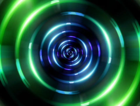 4 K ring green tunnel Stock Video Footage