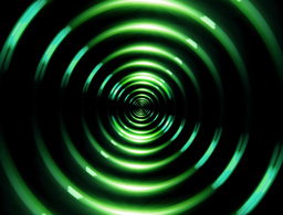 4 K ring lens flare forward green Stock Video Footage