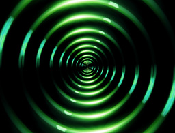 4 K ring lens flare forward green Animation