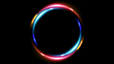 HD double ring blue red Stock Video Footage