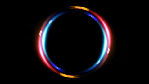 HD double ring blue red Animation
