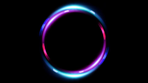HD double ring flare pink blue Stock Video Footage