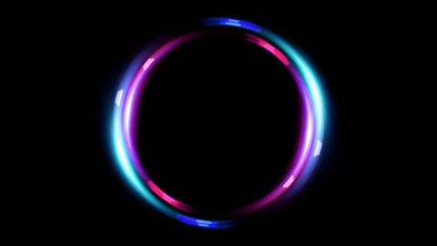 HD double ring flare pink blue Animation