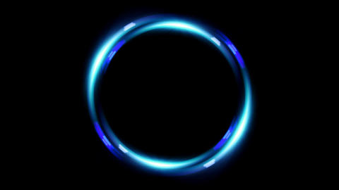 HD double ring lens flare Animation