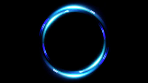 HD double ring lens flare Stock Video Footage
