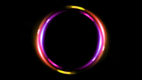 HD double ring pink orange Animation