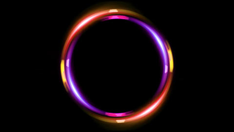HD double ring pink orange Stock Video Footage