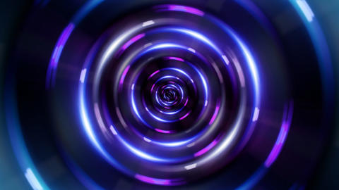 HD ring blue tunnel Animation