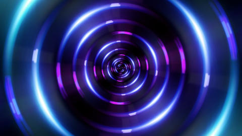 HD ring blue tunnel Stock Video Footage