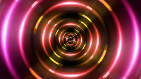 HD ring red tunnel Stock Video Footage