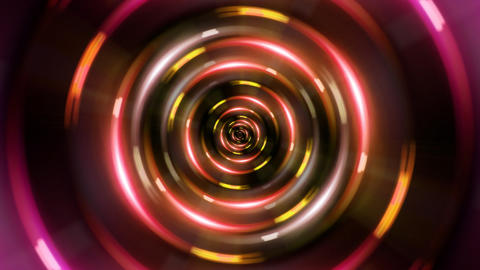 HD ring red tunnel Animation