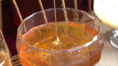 Honey Tasting Stock Video Footage