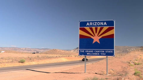 Welcome to Arizona sign Stock Video Footage