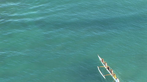 Hawaii outrigger Stock Video Footage