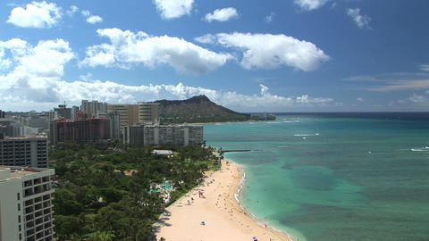 Waikiki Beach & Diamond Head, time lapse Footage