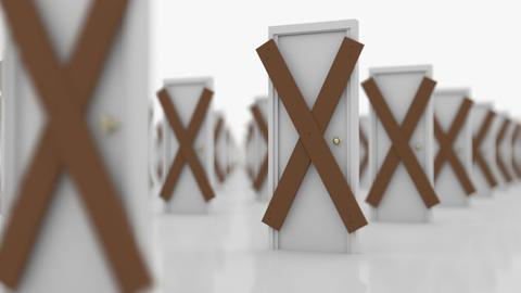 Barred doors Stock Video Footage