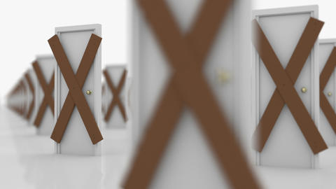 Barred Doors stock footage