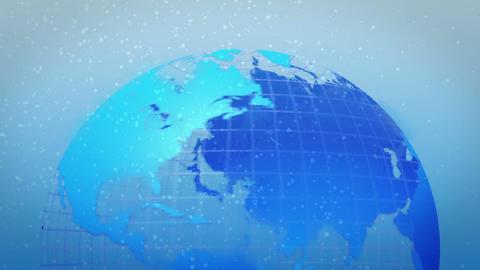 earth rotate ice age bottom loop Stock Video Footage