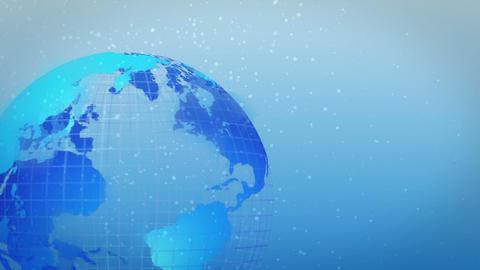 earth rotate ice age left loop Stock Video Footage