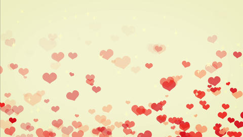 Heart Gush, Spring, Cute Color BG stock footage