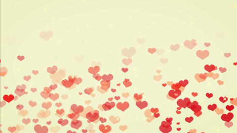 heart gush, spring, cute color BG Stock Video Footage