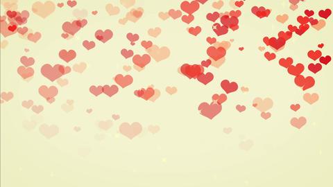 heart rain cute color, backgraund Stock Video Footage