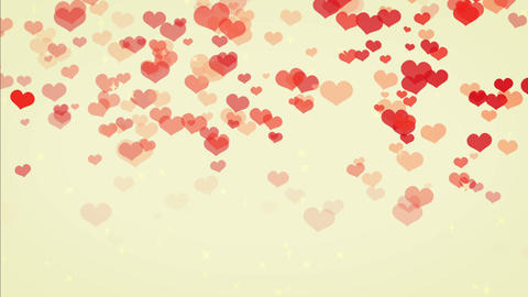 heart rain cute color, backgraund Animation