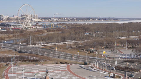 Heihe Blagoveshchensk 03 Stock Video Footage