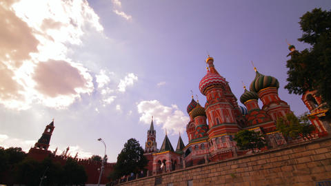 sunny Moscow kremlin time lapse Footage