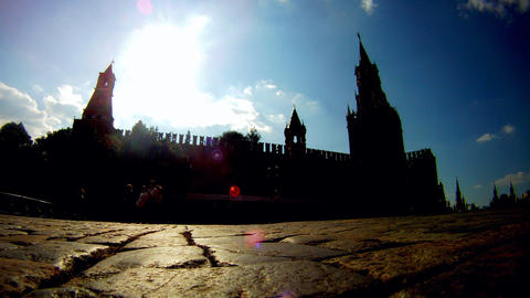 sunny Moscow kremlin time lapse Stock Video Footage