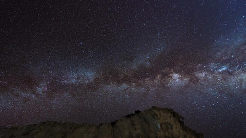 4k UHD stars and milky way over sandstones 11225 Stock Video Footage